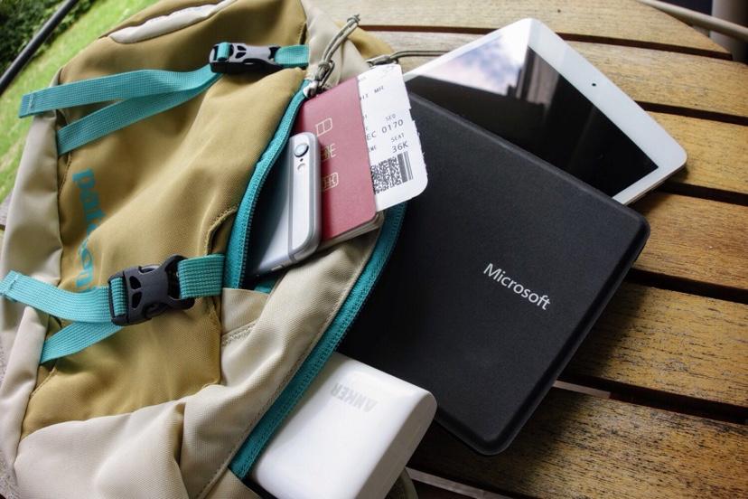 ボディーバッグに入る小型マシン iPad mini