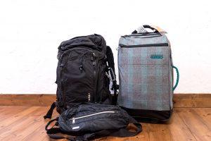 旅のパッキングと三脚の収納(海外旅行編)